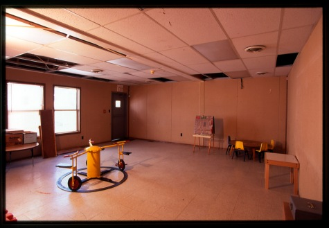 A rundown gross motor room.  Photo: Children's Investment Fund