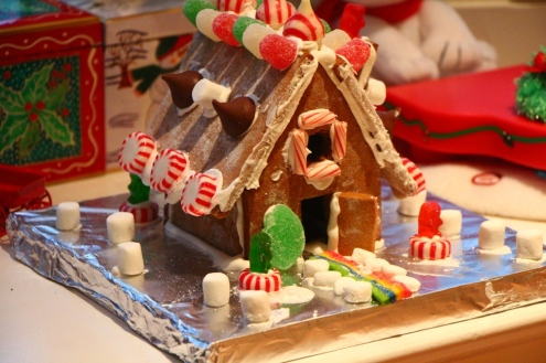 Photo: Alyssa Haywoode. Gingerbread house by Rylie Robinson