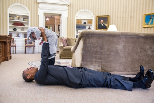 President Obama raising the profile of a young learner. Photo: The White House