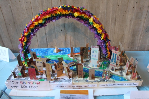 An Enormous Rainbow envisioned by children at the Richard Murphy School in Dorchester